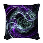 Light Within, Abstract Swirls Woven Throw Pillow