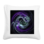 Light Within, Abstract Swirls Square Canvas Pillow