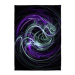 Light Within, Abstract Swirls 5'x7'Area Rug