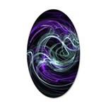 Light Within Abstract 35x21 Oval Wall Decal