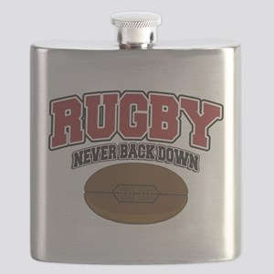 Rugby Never Back Down Flask