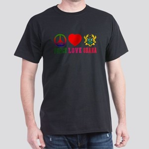 Peace Love Ghana Dark T-Shirt