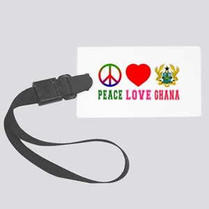 Peace Love Ghana Large Luggage Tag