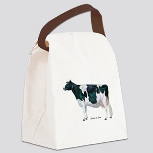 Holstein Cow Canvas Lunch Bag