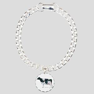 Holstein Cow Charm Bracelet, One Charm