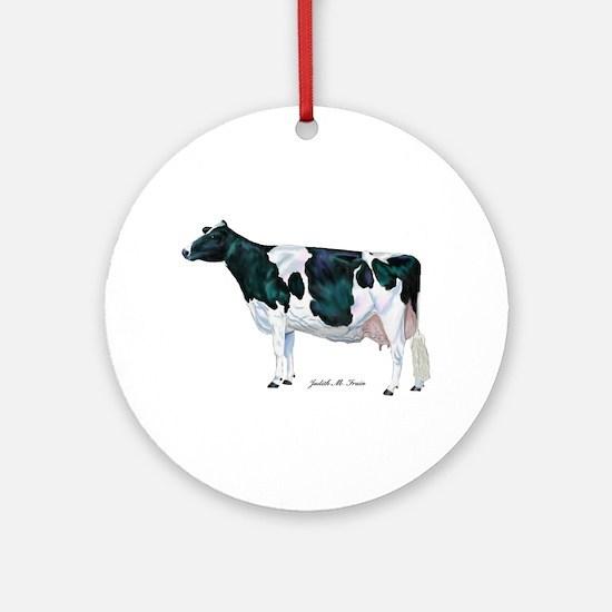 Holstein Cow Ornament (Round)