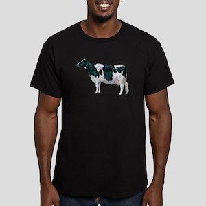 Holstein Cow Men's Fitted T-Shirt (dark)