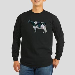 Holstein Cow Long Sleeve Dark T-Shirt