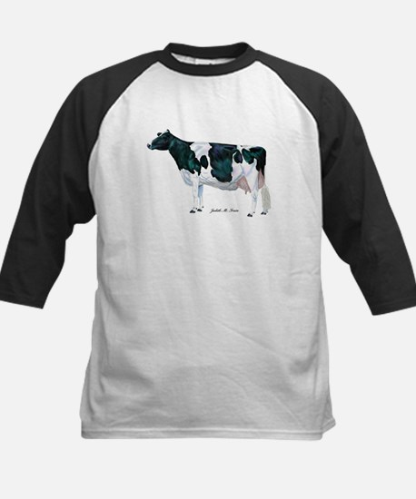 Holstein Cow Kids Baseball Jersey
