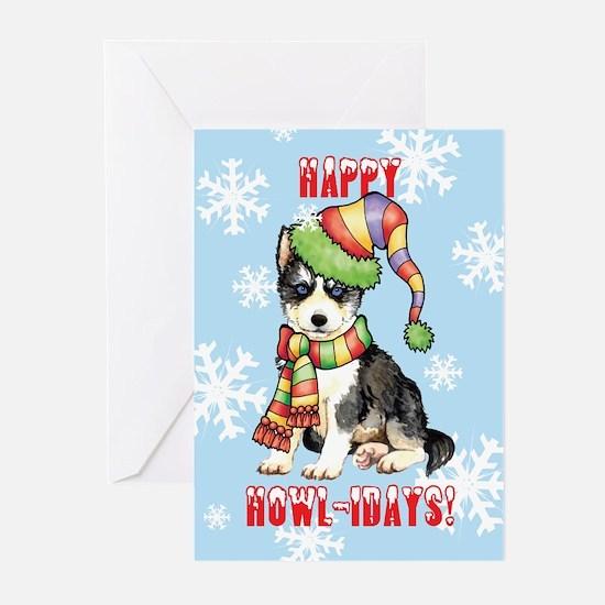 Holiday Husky Greeting Cards