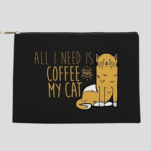 All I Need Is Coffee And My Cat Makeup Pouch