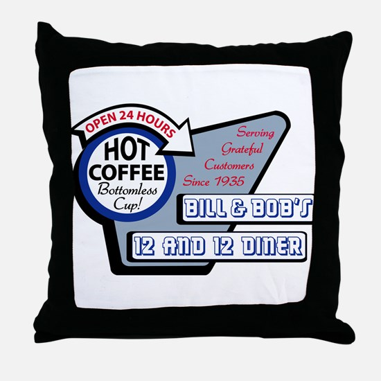 Bill & Bob's 12 and 12 Diner Throw Pillow