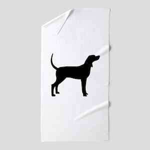 Coonhound Dog (#2) Beach Towel