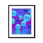 Violet Mist, Cyan Purple Light Framed Panel Print
