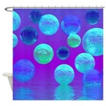 Violet Mist, Cyan Purple Light Shower Curtain