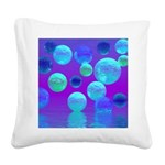 Violet Mist, Abstract Square Canvas Pillow