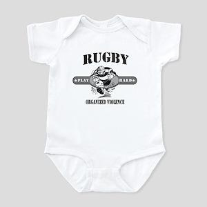 Rugby Organized Violence Infant Bodysuit