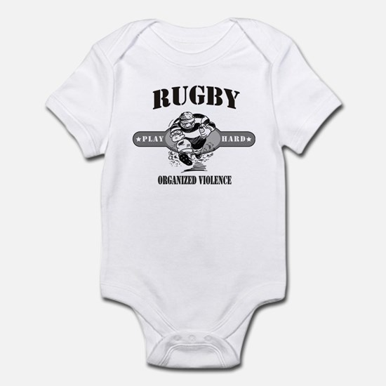 Rugby Organized Violence Infant Bodysuit