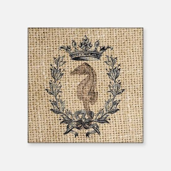 "vintage french botanical se Square Sticker 3"" x 3"""