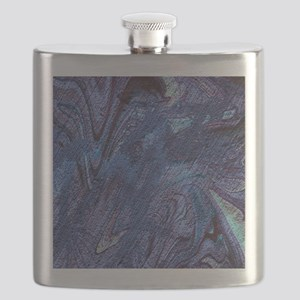 abstract fascination blue Flask