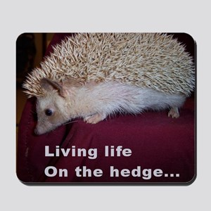 Living on the hedge... Mousepad