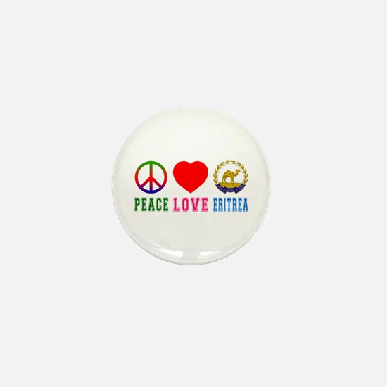 Peace Love Eritrea Mini Button