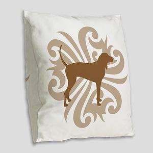 2-tribal tan Burlap Throw Pillow