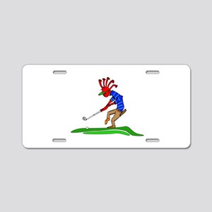 Kokopelli Golfer Aluminum License Plate