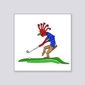 Kokopelli Golfer Sticker