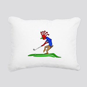 Kokopelli Golfer Rectangular Canvas Pillow