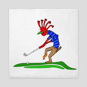 Kokopelli Golfer Queen Duvet