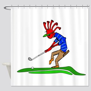 Kokopelli Golfer Shower Curtain