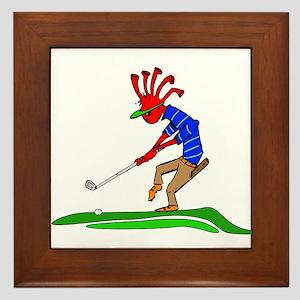 Kokopelli Golfer Framed Tile