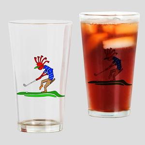 Kokopelli Golfer Drinking Glass