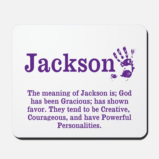 The Meaning of Jackson Mousepad