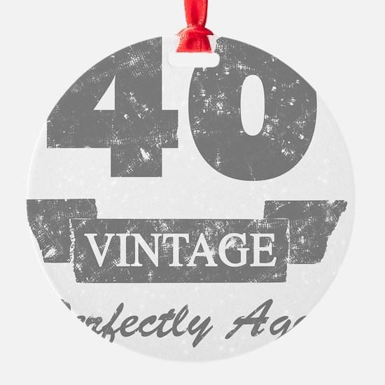 40th Birthday Vintage Ornament