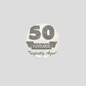 50th Birthday Vintage Mini Button