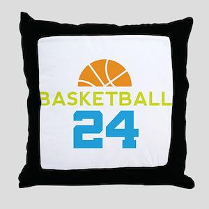 Custom Basketball Player 24 Throw Pillow