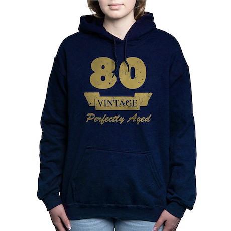 80th Birthday Vintage Hooded Sweatshirt