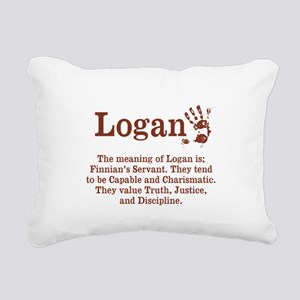 The Meaning of Logan Rectangular Canvas Pillow