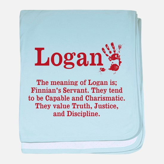 The Meaning of Logan baby blanket