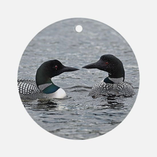 2 Loons Ornament (Round)