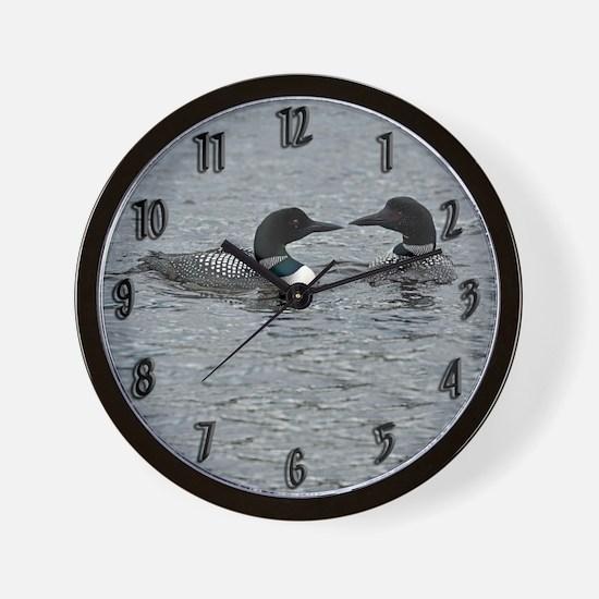 2 Loons Wall Clock
