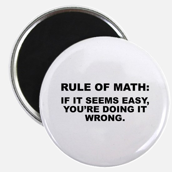"Rule Of Math 2.25"" Magnet (10 pack)"
