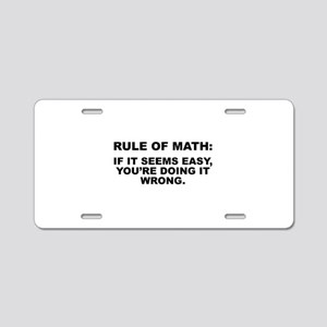 Rule Of Math Aluminum License Plate