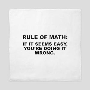 Rule Of Math Queen Duvet