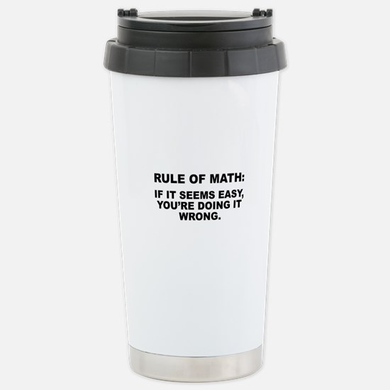 Rule Of Math Stainless Steel Travel Mug
