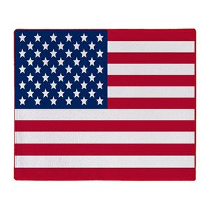 American Flag Stadium Throw Blanket