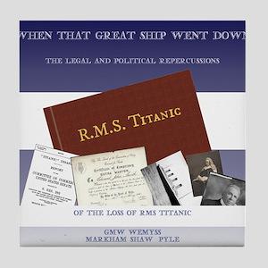 The Great Ship Titanic Tile Coaster