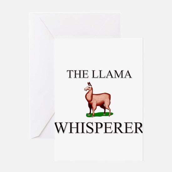 The Llama Whisperer Greeting Cards